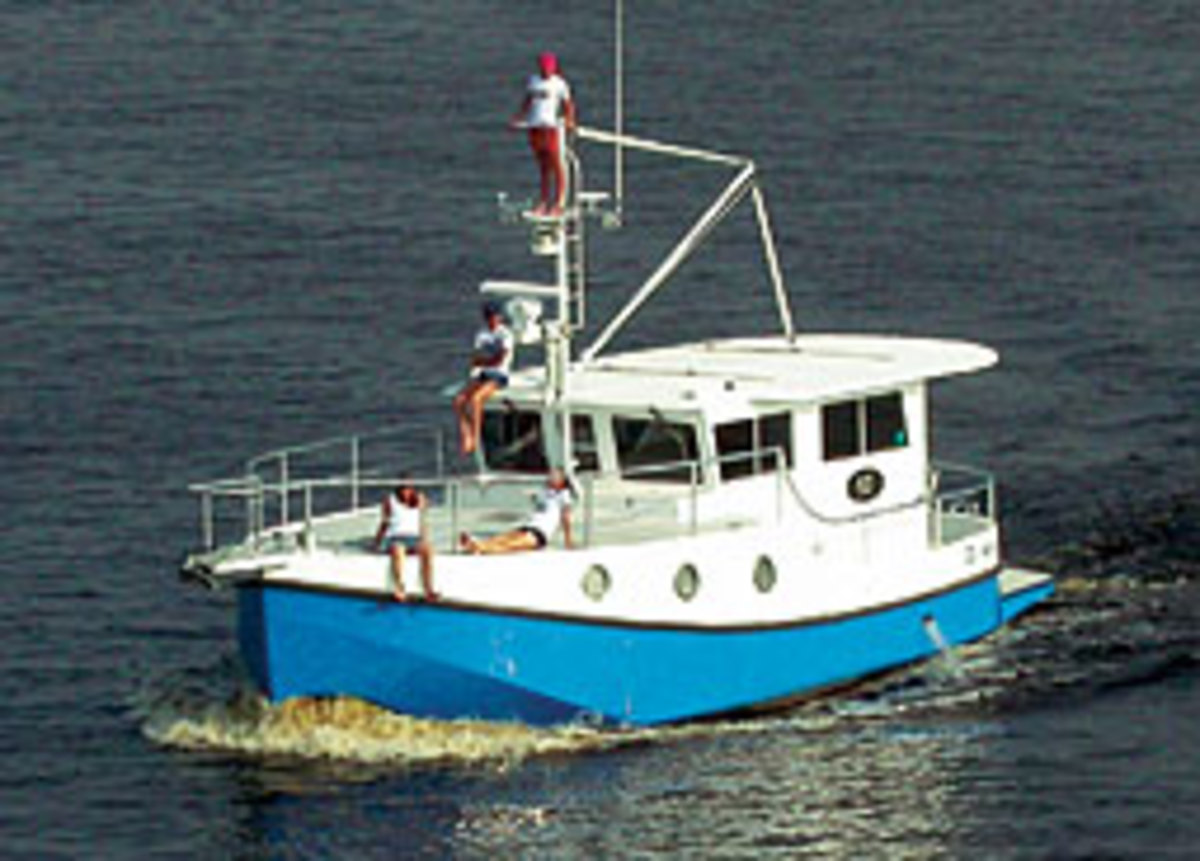 Mirage Manufacturing builds Great Harbour trawlers from 37 to 74 feet (N37 pictured).