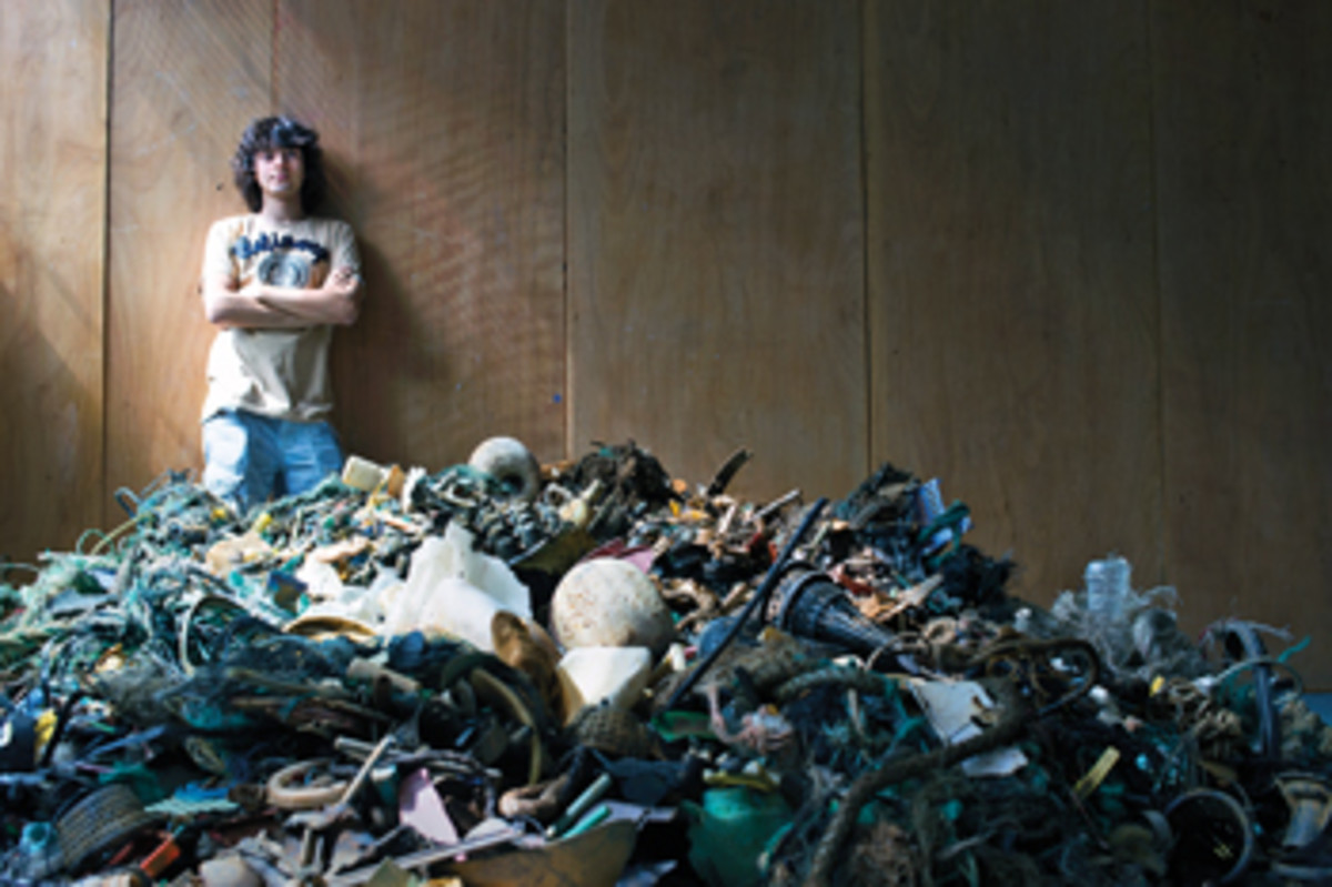 Boyan Slat, founder and president of The Ocean Cleanup, is committed to removing plastic from the marine environment.