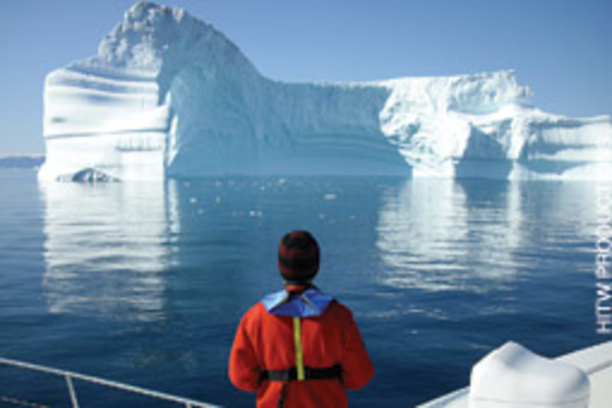 The crew found the icebergs awe-inspiring.