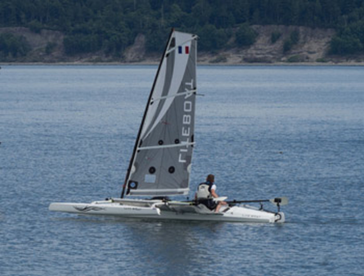 Mathieu Bonnier built the prototype LiteXP he rowed and sailed in the Race to Alaska. His company, Liteboat, builds performance rowing craft.