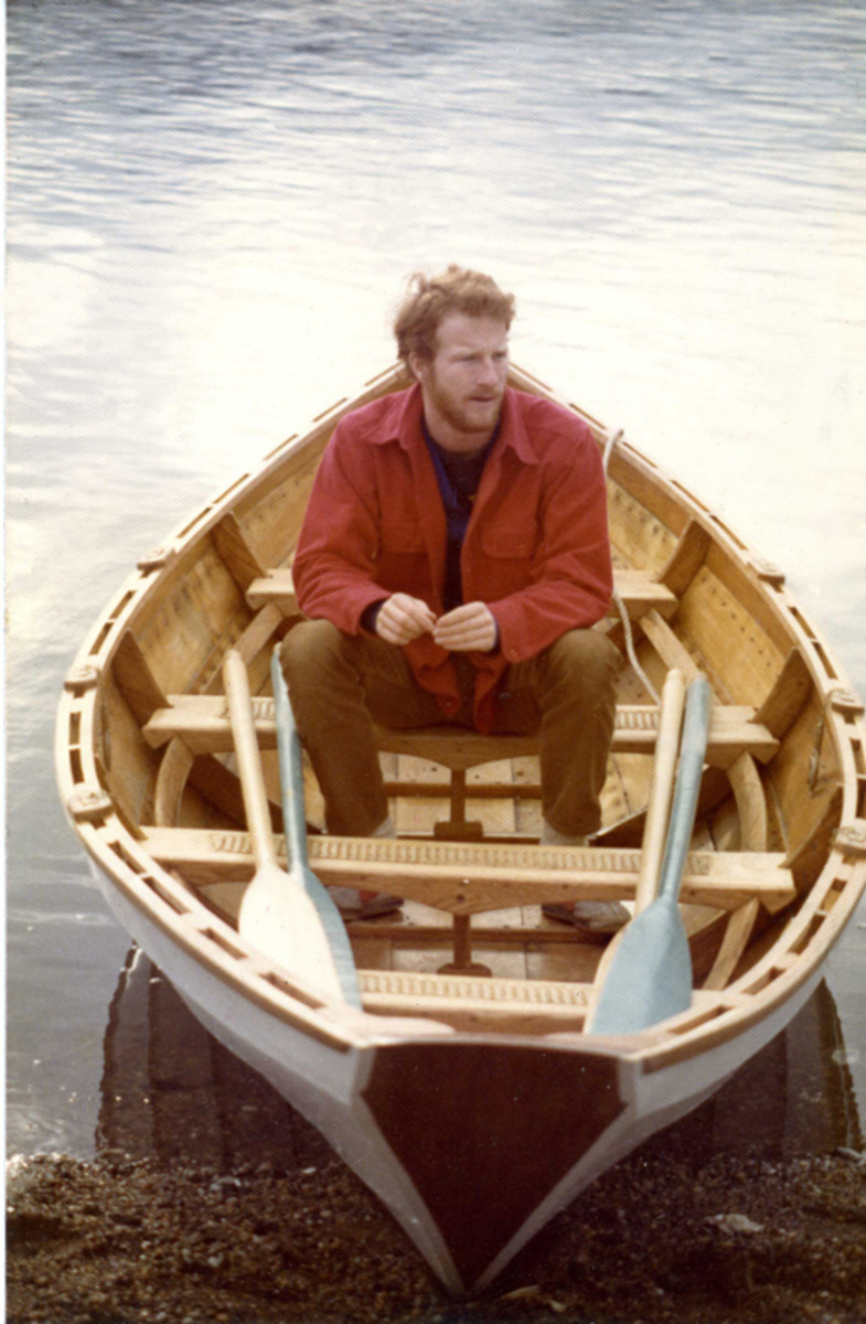 When he was in college, a Swampscott dory built by a friend gave Bolster a new appreciation for rowing.