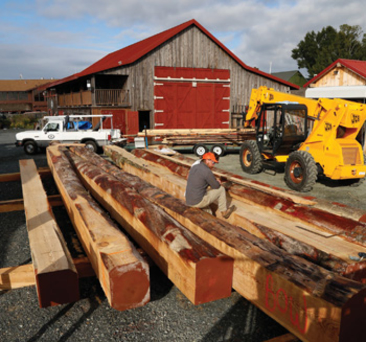 It took Chesapeake Bay Maritime Museum two years to locate the loblolly pine logs for the bugeye's new bottom.
