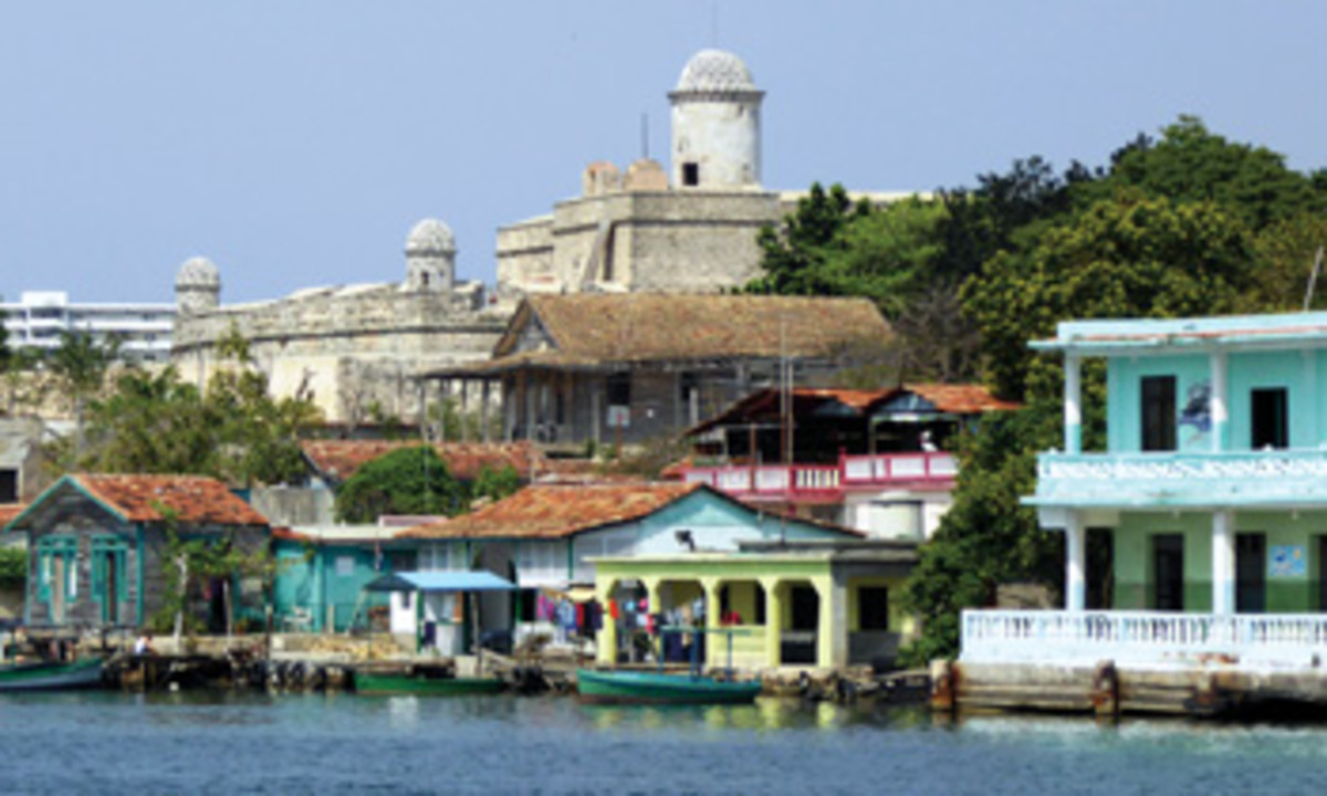 The historic fort Castilde Jagua was built to protect Cienfuegos from pirates. (Below) A typical breakfast is served aboard Stravinsky.
