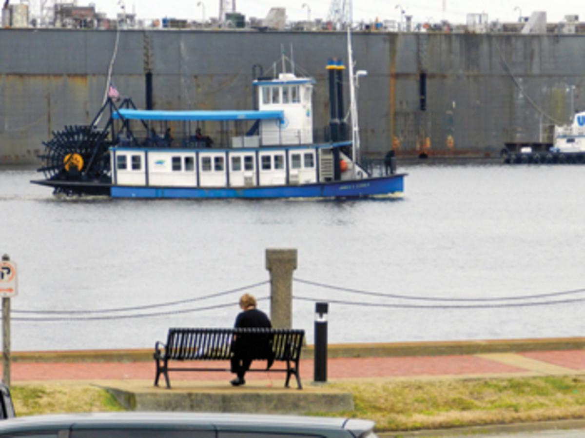 The Elizabeth River Ferry provides public transportation at Mile Zero.