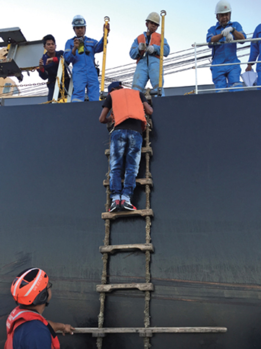 Javier Eduardo Olaya was found by the crew of the bulk carrier Nikkei Verde.