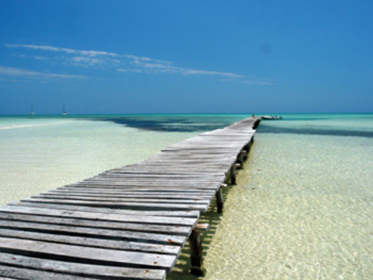 Cayo Rico is a quintessential tropical island with white beaches and electric-blue water.