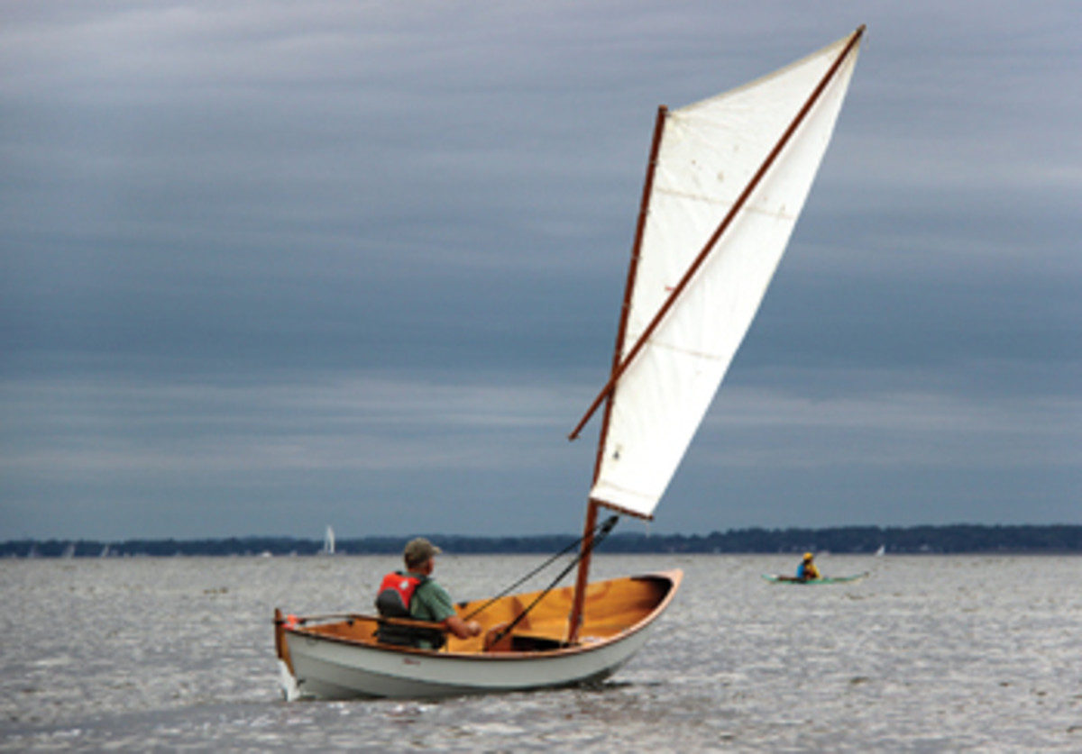 This Skerry design draws on traditional working craft of the U.K. and Scandinavia, and a little bit of American Swampscott dory.