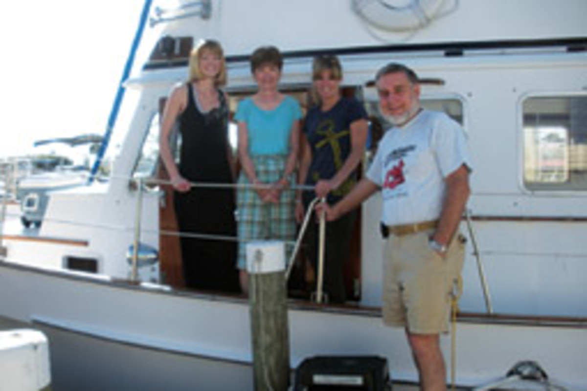 Richard and Bev Allen, with daughters Beth and Val