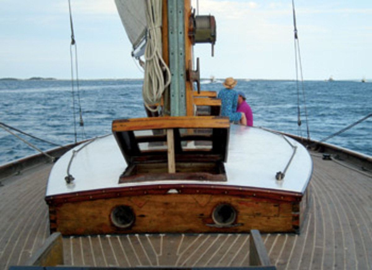 Lish finds that one of the major frustrations of being Zaida's hands-on owner is that the work required to keep her operational prevents him from sailing as much as he'd like.