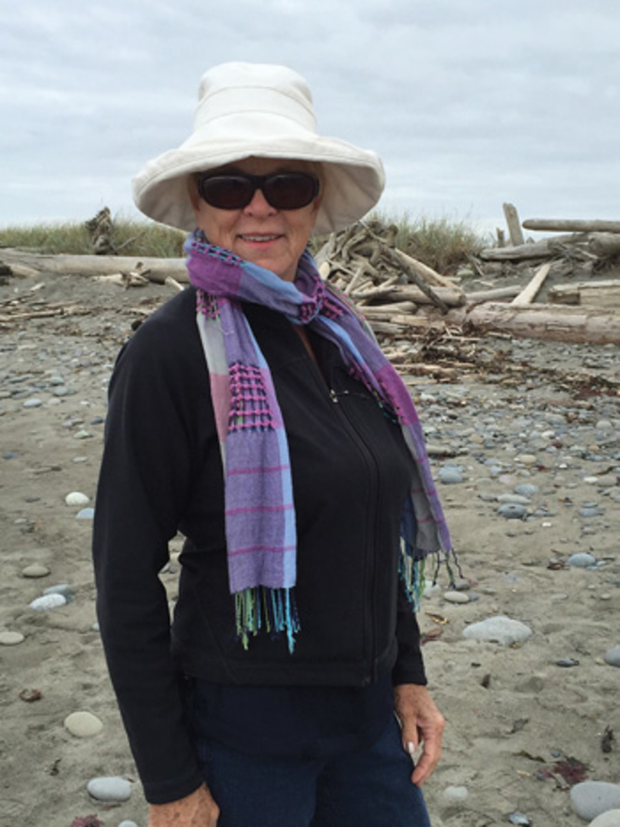 Rempfer says working with driftwood gives her a sense of tranquility and joy.