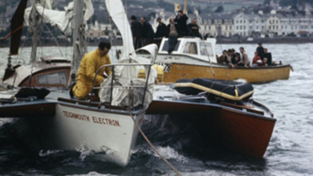 Donald Crowhurst's disappearance during the Sunday Times Golden Globe Race raised much speculation. The skipper was not on board when his trimaran, Teignmouth Electron, was found adrift.
