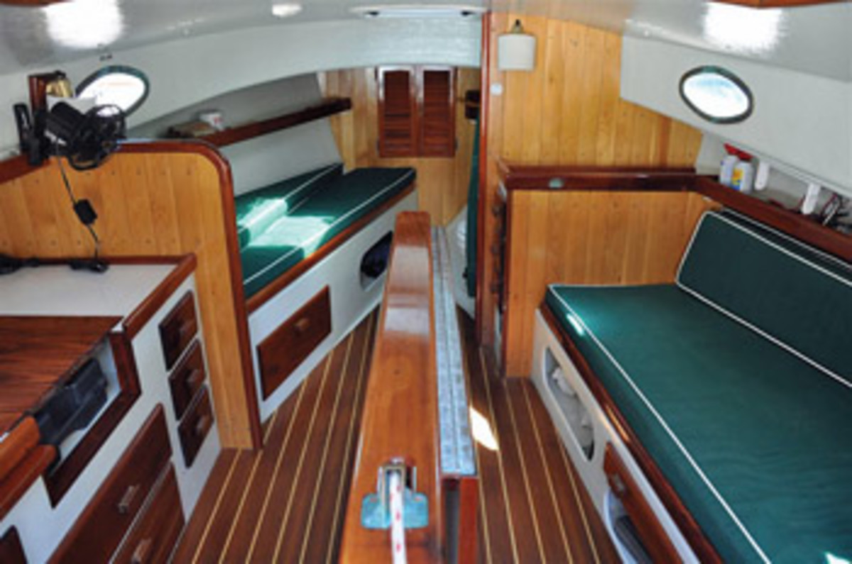 The Marshall 22's interior is cozy but comfortable for adventurous weekend expeditions.