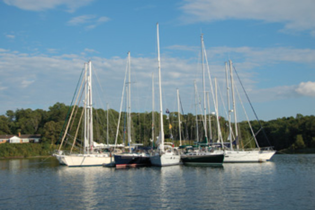 Fleet mentality usually doesn't play a role in weekend yacht club getaways.
