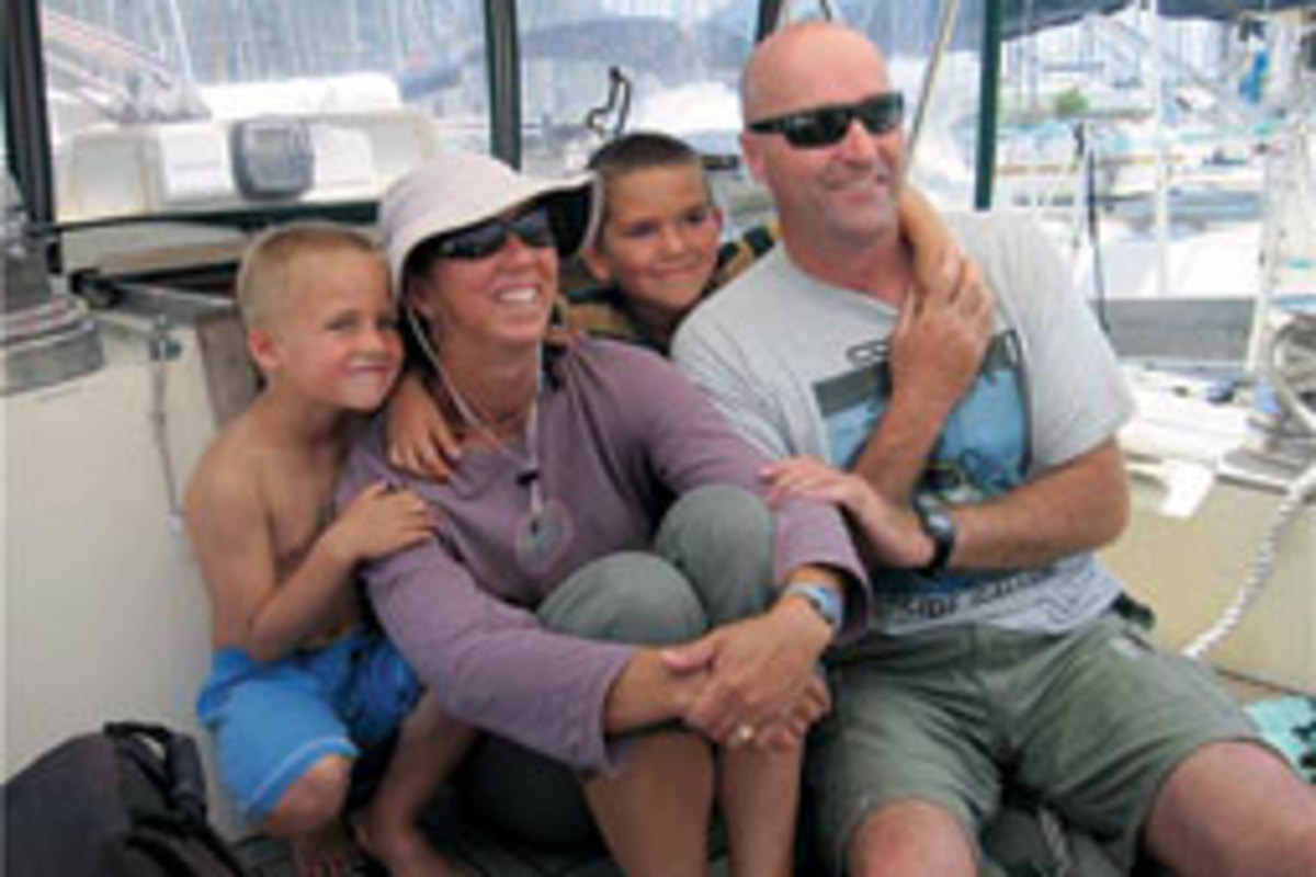 The Holtzhausen family set off from New England in 2006 and continues to explore the world by boat.