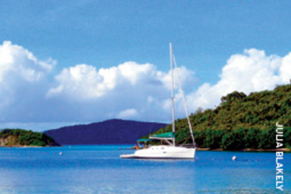 The author and his wife navigated the islands - and customs - in this 32-foot Beneteau charter.