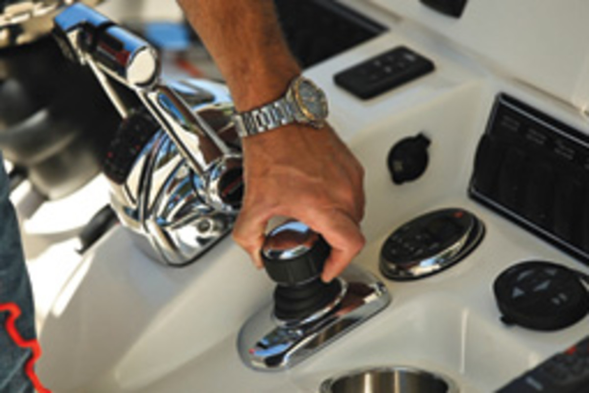 Mercury Marine's Joystick Piloting for outboards is a helm control system.