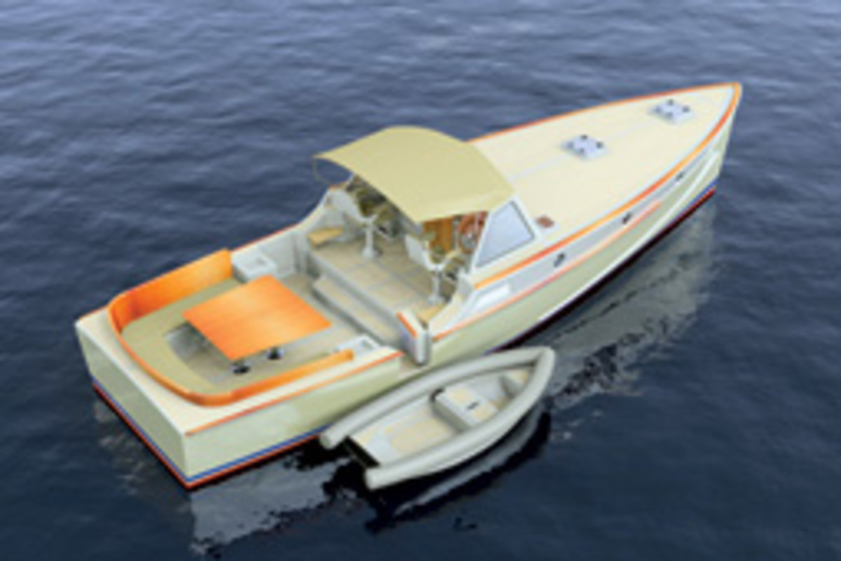 The 38 DayBoat, designed by Steve Weiss, has a layout that doesn't 'deprive the senses' and hull-side doors for easier boarding.