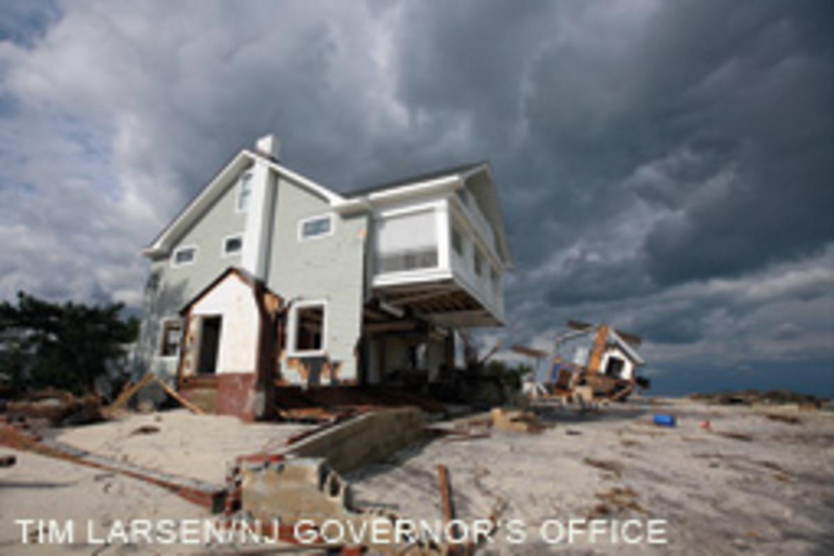Heavily damaged homes in Bay Head, N.J., reveal Sandy's fury.