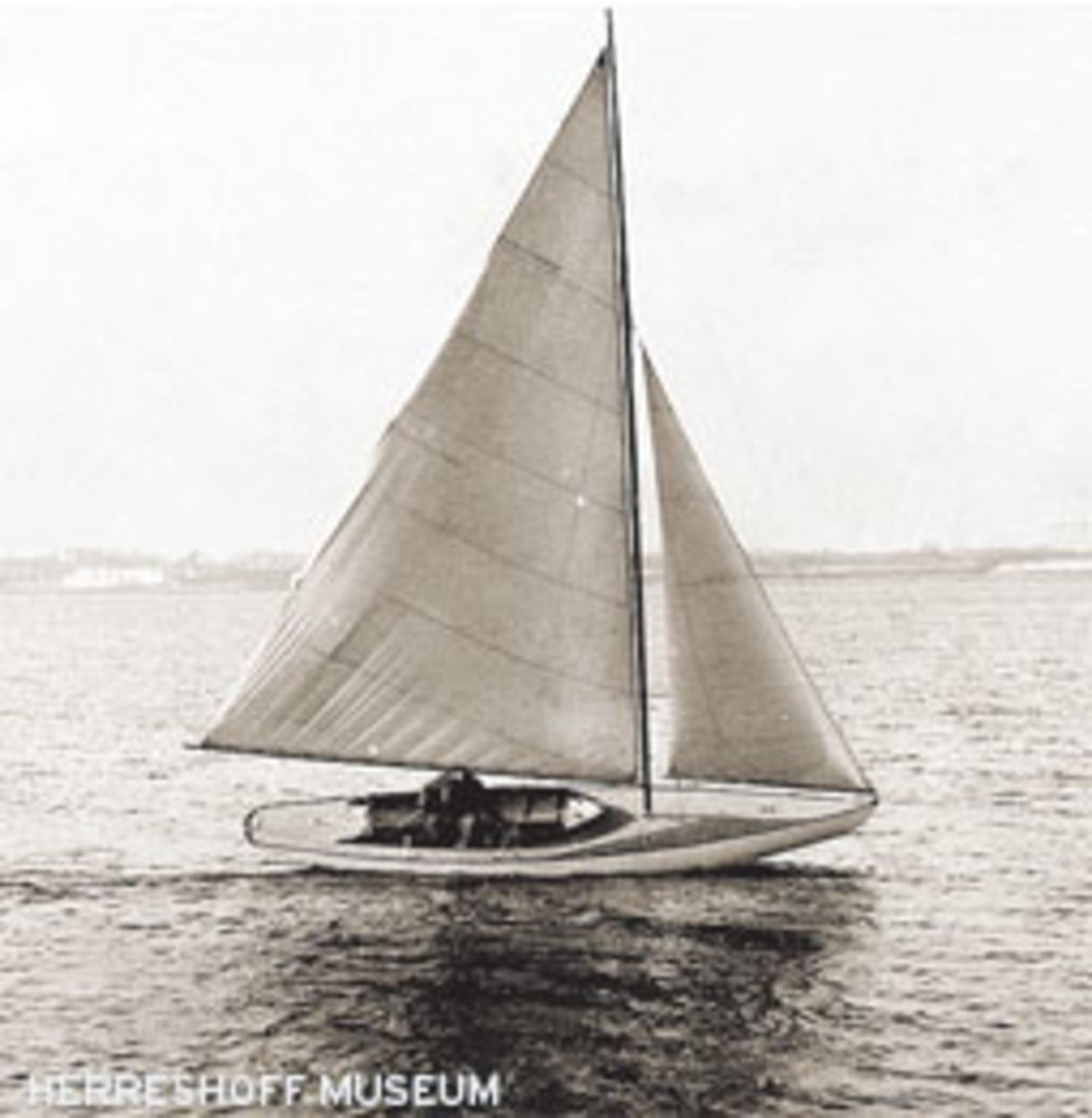 The boat that started it all, Josephine, during her December 1922 sea trials.