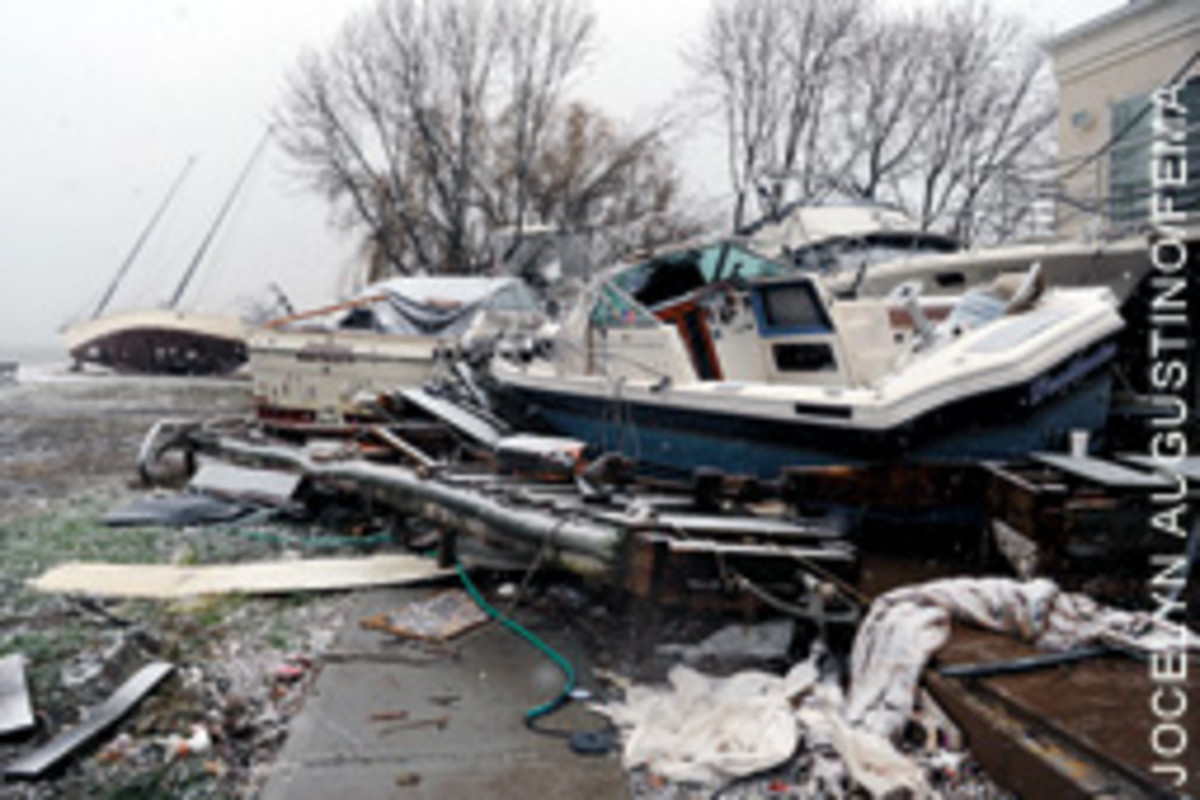 Superstorm Sandy left thousands of boats high and dry from New Jersey to New York and Connecticut.