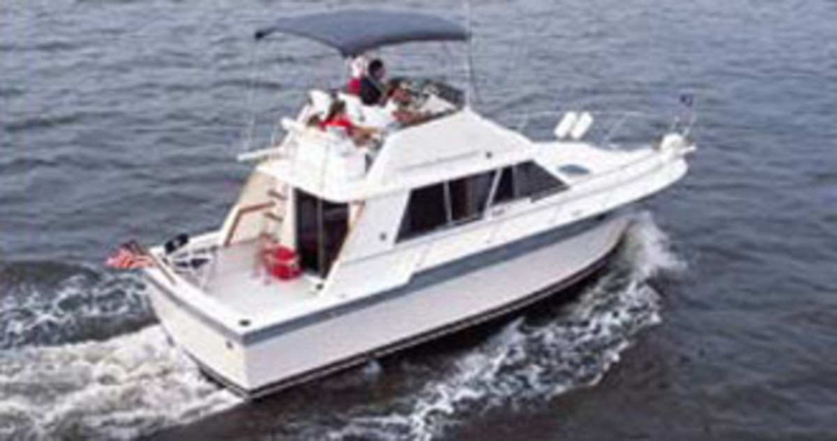 A 1984 Silverton 34 Convertible from the Silverton Marine website.