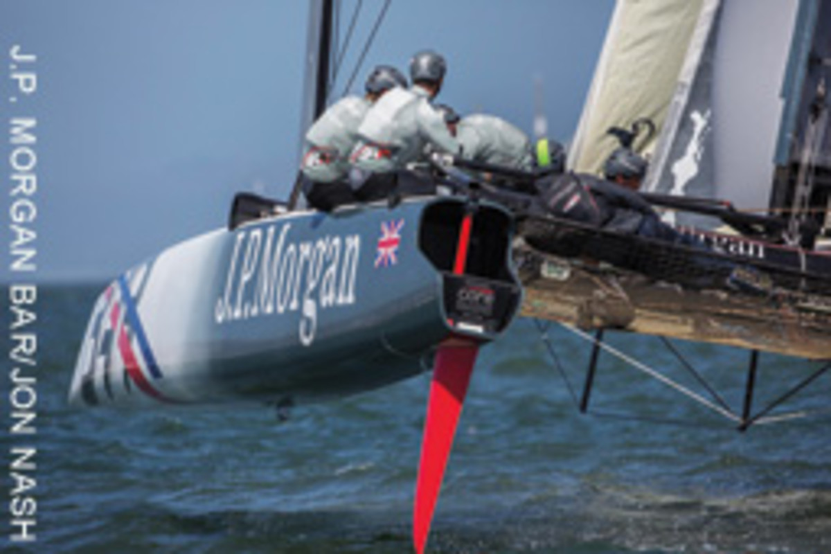 Ainslie has set his sights on the America's Cup and the wingsail catamaran that will be used for the regatta.