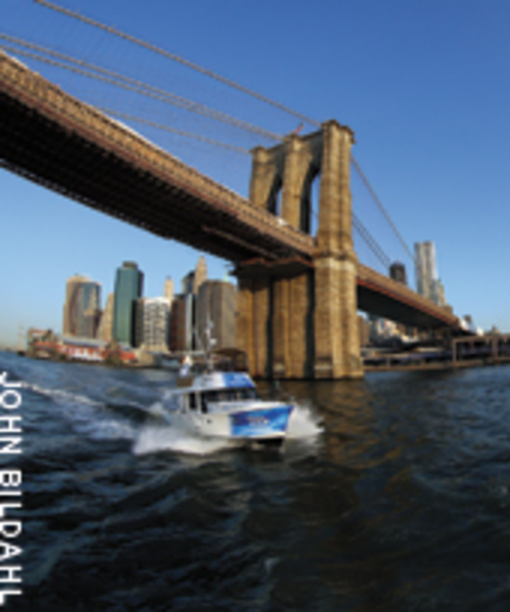The first leg brought the boat from Annapolis, Md., to the skyscrapers of the Big Apple.