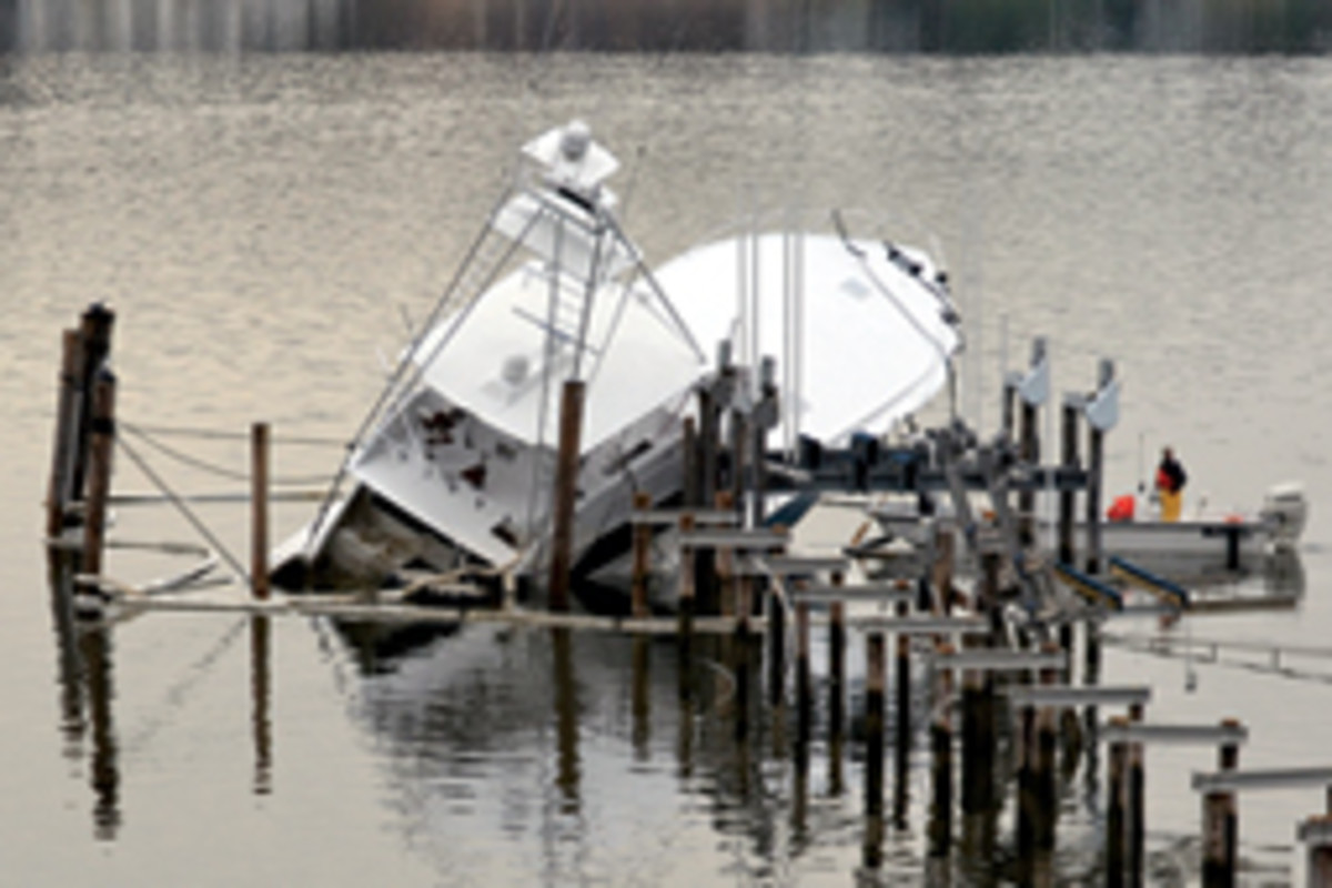 Submerged boats typically have the most damage, especially if the engines were under water.