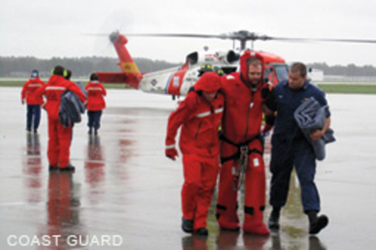 The Coast Guard rescued 14 people form the Bounty, which had been rebuilt over the past decade.