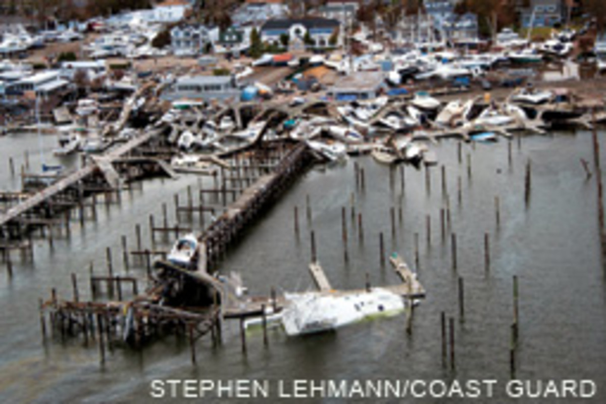 The damage in Great Kills Harbor, N.Y., was replayed throughout the tri-state area and southern New England. Estimates put Sandy's toll at more than 65,000 boats.