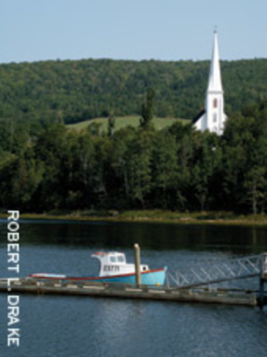 The rural community of Mabou on Cape Breton Island