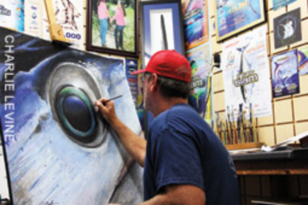 R.J. boyle is as adept at painting monster swordfish as he is at boating them.