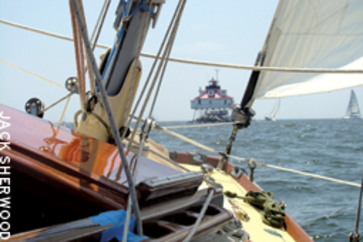The Bay Tripper had plenty of wind for his first cruise of the season.
