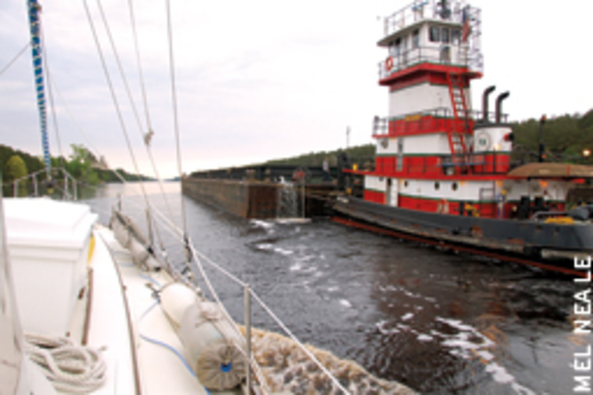 You'll have to share the water with commercial traffic in some parts of the ICW.