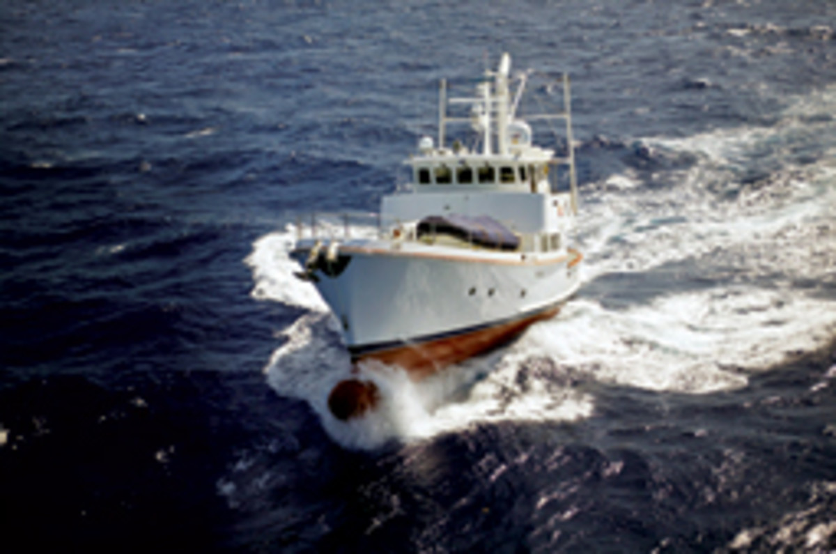 Nordhavn organized a trans-Atlantic fleet voyage in 2004 to encourage more people to cross an ocean under power.