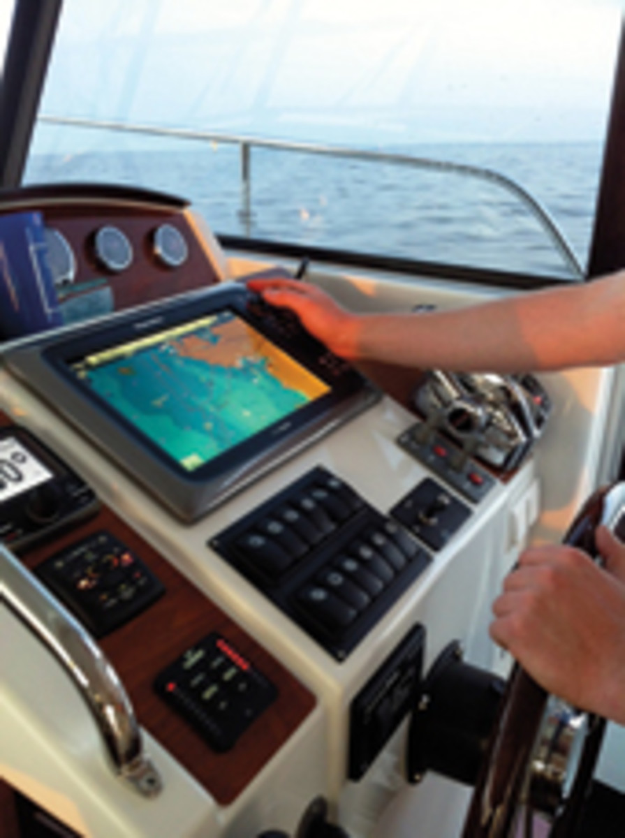 The Greatest Loop has a suite of Raymarine instruments standard on the Swift Trawler 34.