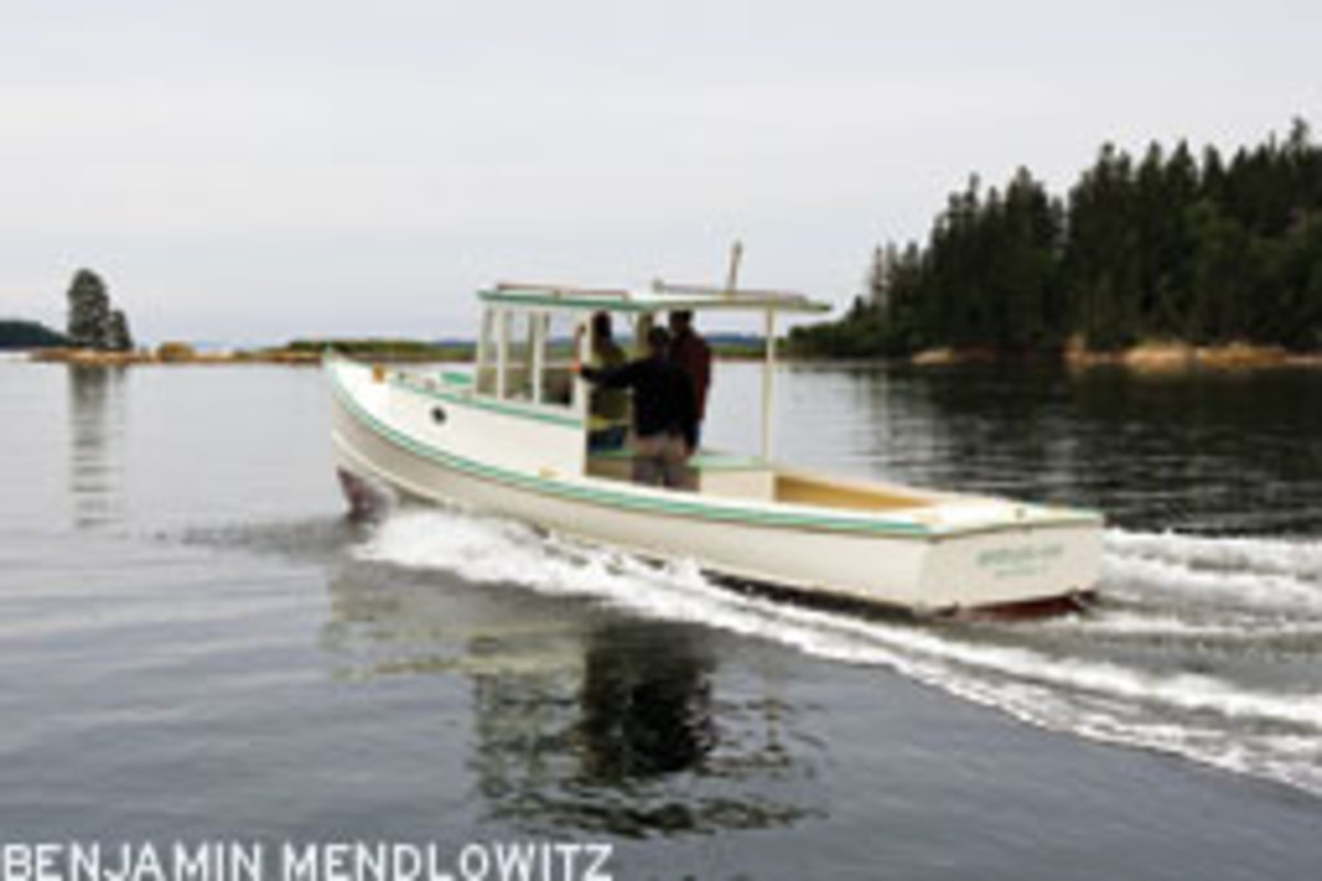 Brenda Kay is a D.N. Hylan & Associates reproduciton of a 1950's Beals Island lobster boat.