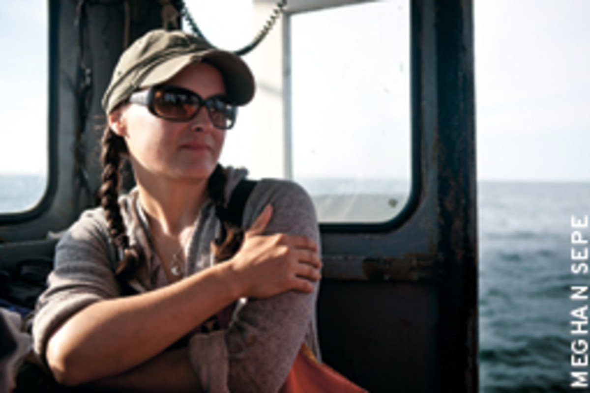 Corey Wheeler Forrest became a 'real fisherman' the day she tumbled into the sea.