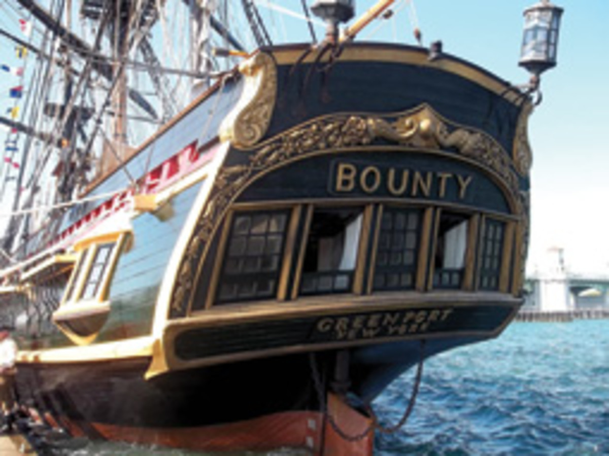 The 51-year-old ship was built for the 1962 film 'Mutiny on the Bounty' and classed as a dockside attraction.