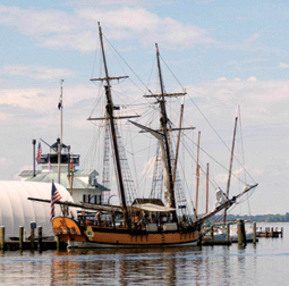 The schooner Sultana is scheduled to dock in May at the Chesapeake Bay Maritime Museum.
