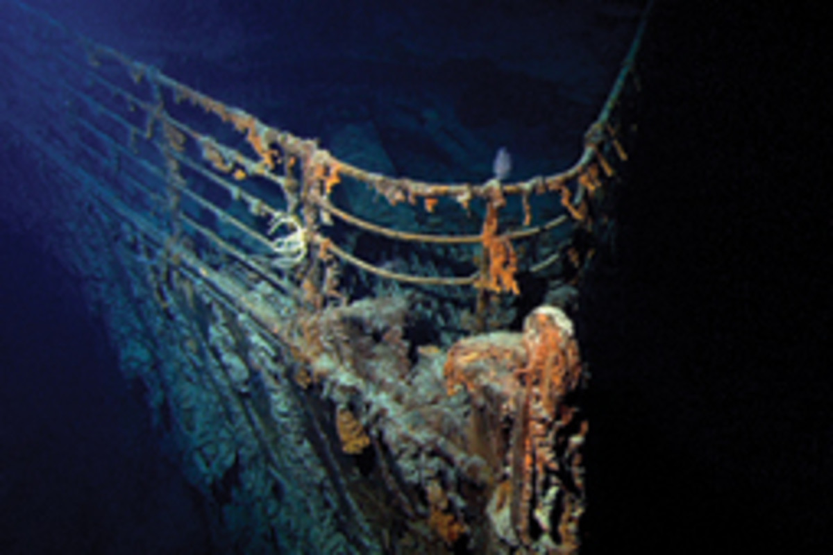 Two passenger ships planned to stop above the wreck site April 15 for a memorial ceremony.