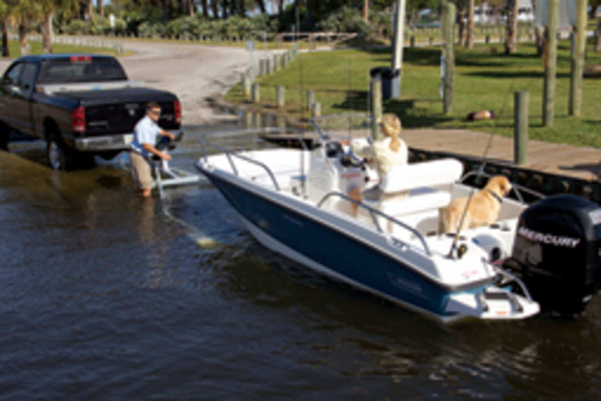 Boston Whaler's 170 Dauntless was shown for the first time at the Miami show.