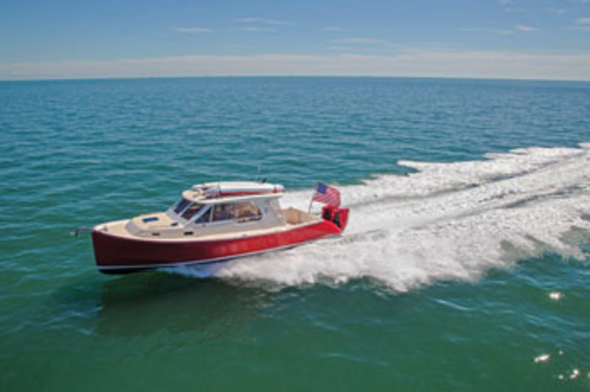 True North 34 Outboard Express.