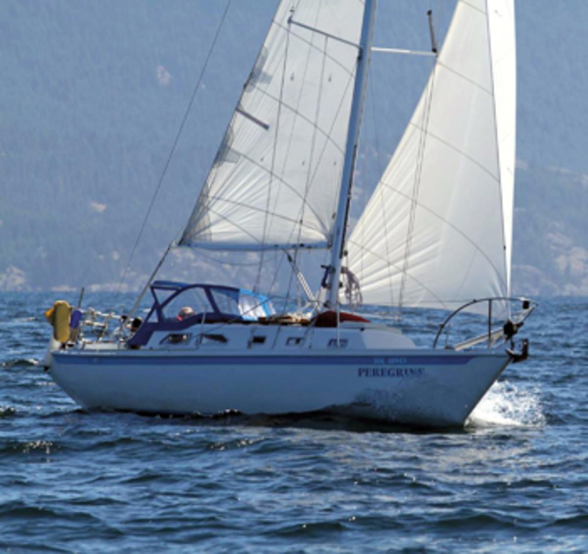 A vintage 1973 Ericson 32-2 is liveaboard sailor Annette Brosin's refuge and escape vehicle.