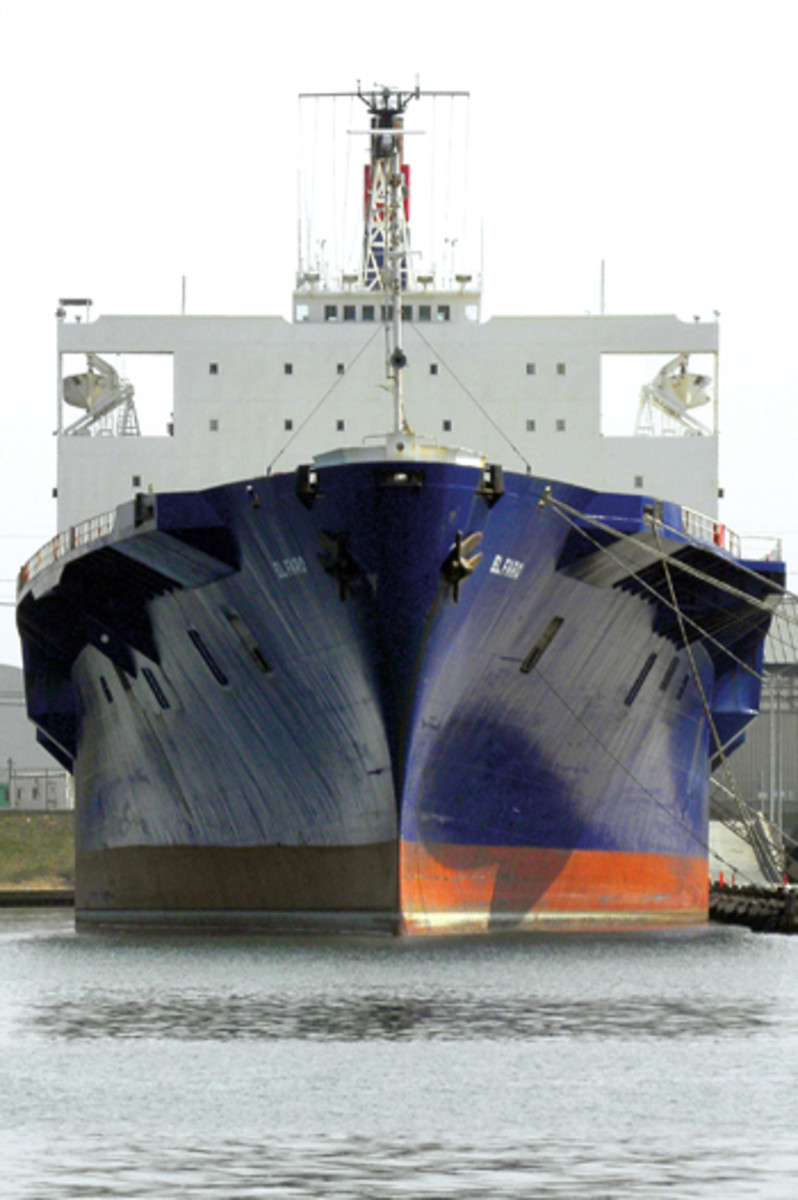 El Faro was a 790-foot roll-on/roll-off, lift-on/lift-off cargo ship built in 1974 and updated in 1992 and 2006. Her maximum speed was 22 knots.