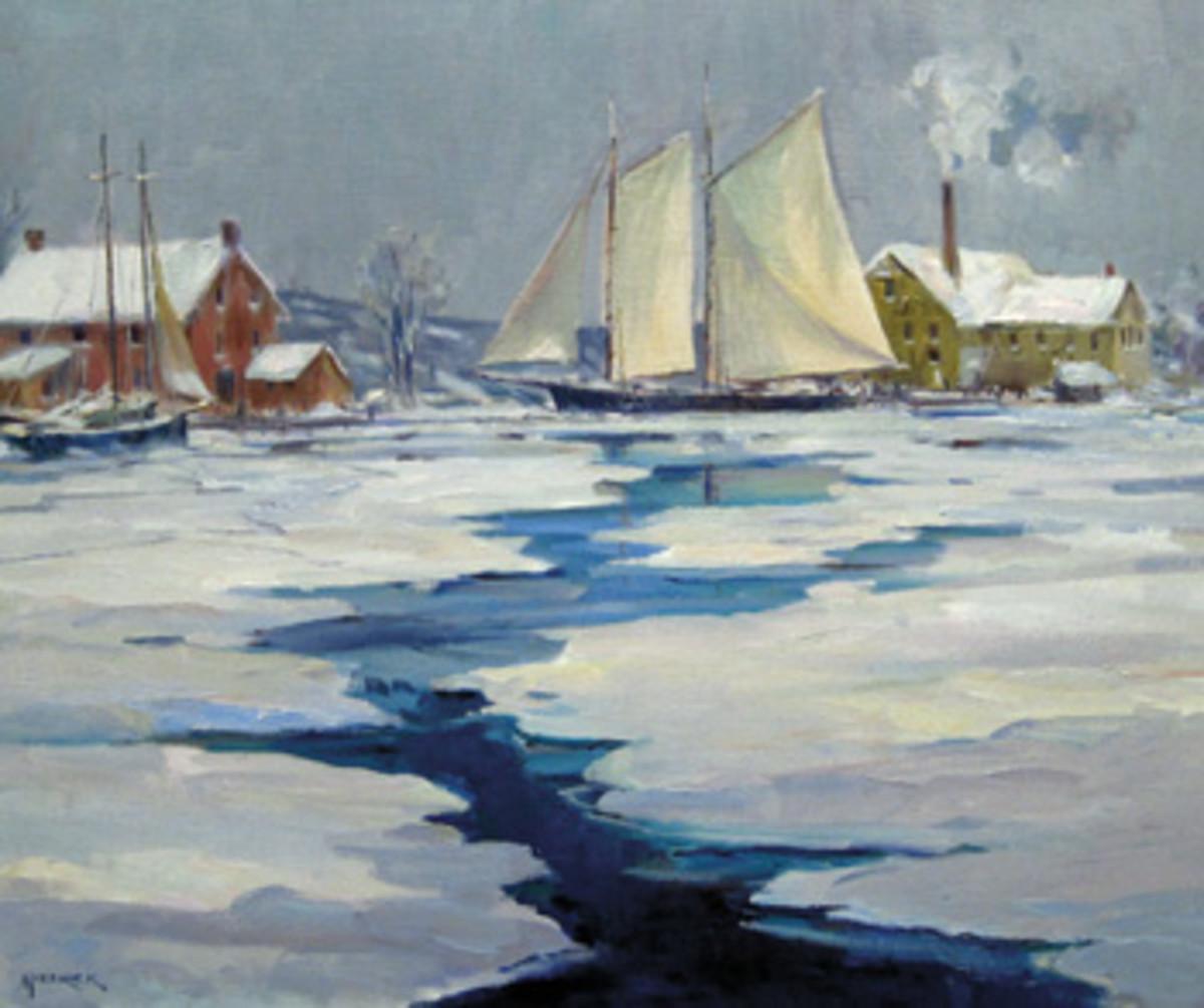 Oil painting by Leonard Mizerek.