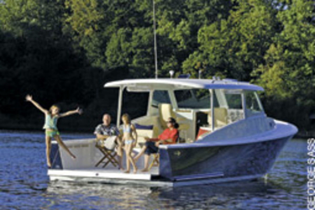 A boat should provide a platform for fun and relaxation - mission accomplished aboard this Eastport 32.
