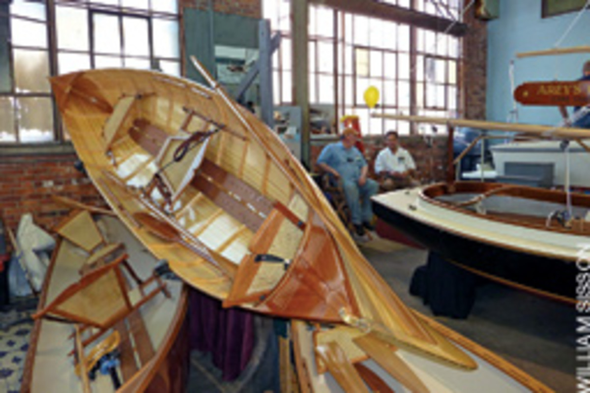 Is it a boat or a nautical art exhibit? The Maine Boatbuilders Show is both for fans of finely crafted vessels.