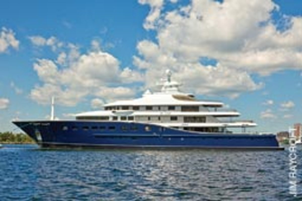 Cakewalk is the largest private yacht by volume ever launched from a U.S. yard.