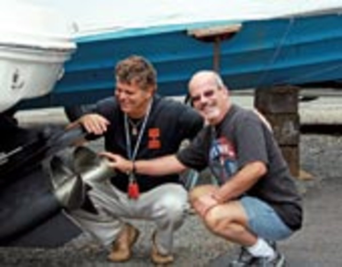 Fasino's brother, Bob, helped him load up the boat this spring and they already have plans to cruise Escape a few more times htis season.